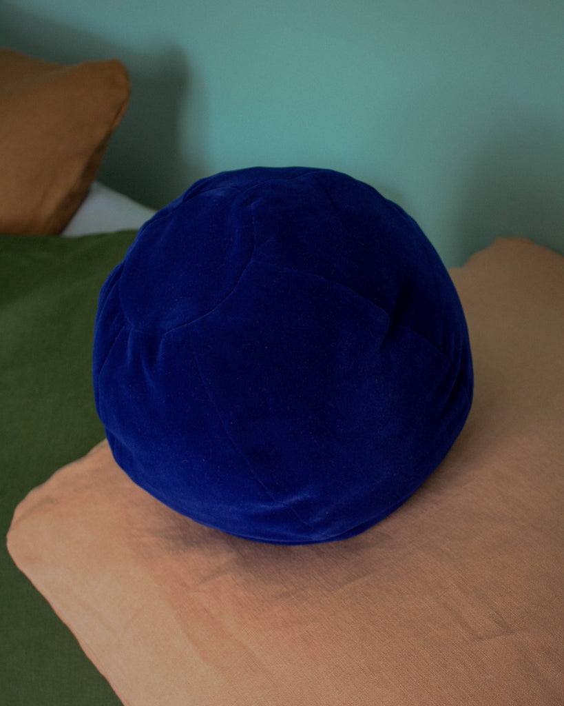 Klay Globe Cushion - Blue Velvet