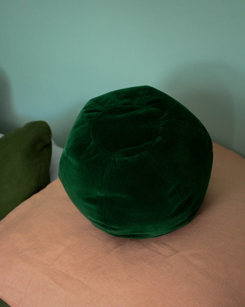 Klay Globe Cushion - Green Velvet
