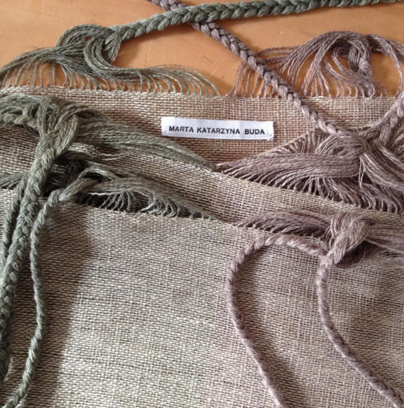SOLD OUT Marta Buda Hand Woven Two Tone Bag