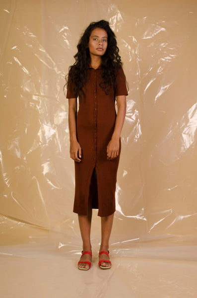 SOLD OUT Penny Sage Shebeen Dress Bark