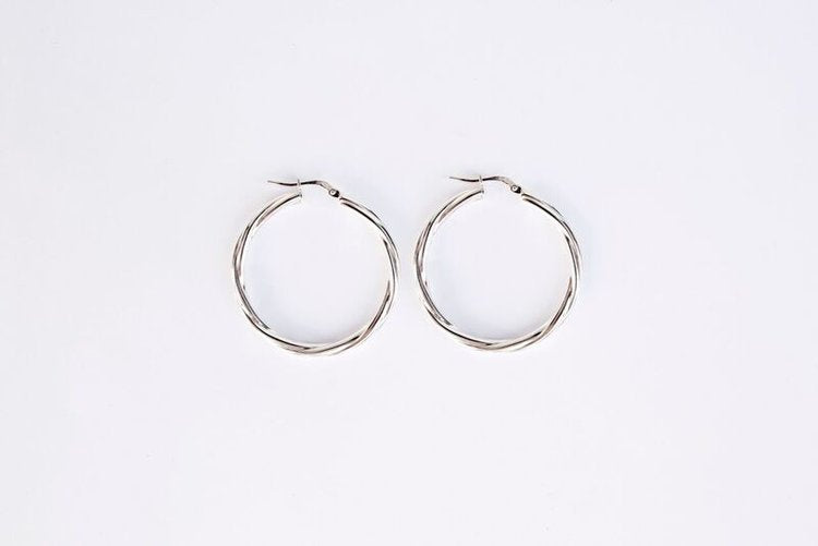 Tilly Mojave Silver Hoops