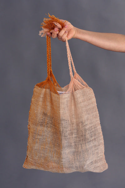 Marta Buda Hand Woven Two Tone Bag
