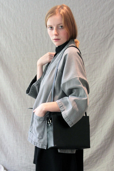 SOLD OUT Atelier Delphine Furoshiki Rectangle Black Bag