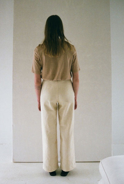 SOLD OUT Han Starnes Cream Denim Pants