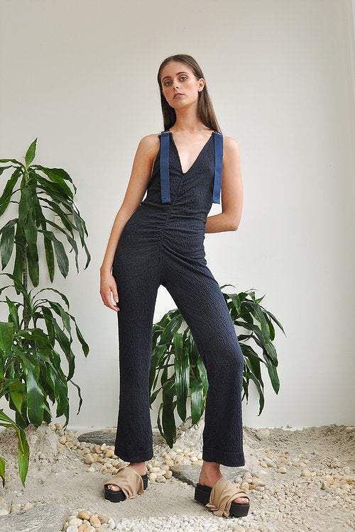 Mundame Genoa Navy Knit Jumpsuit