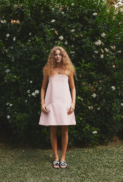 Soot Rose Strapless Dress