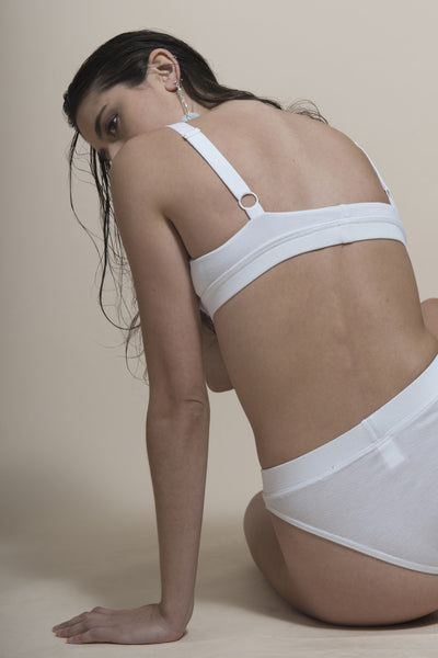 Ken The Label Soft Cup Bralet White