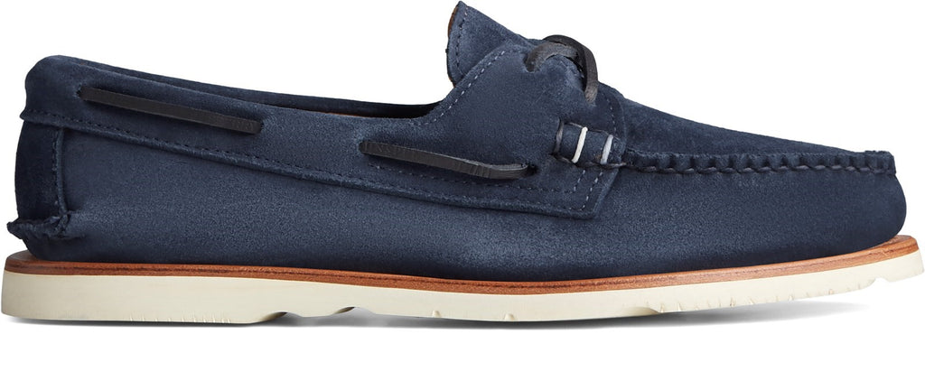 Herren Authentic Original Sunspel Bootschuhe Marineblau/Wildleder