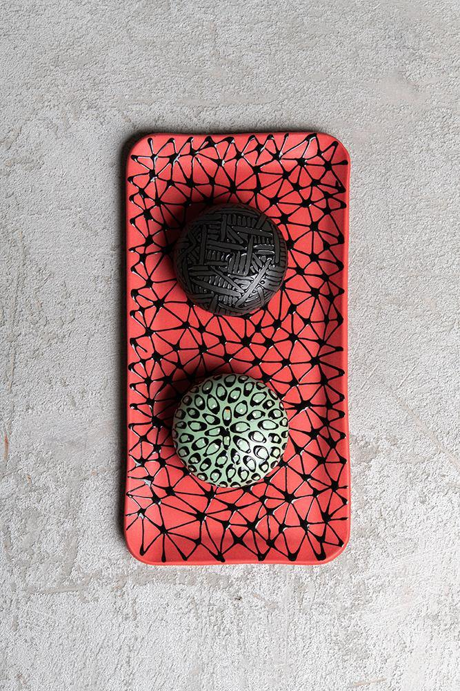 Salt and pepper shakers | Pistachio and black