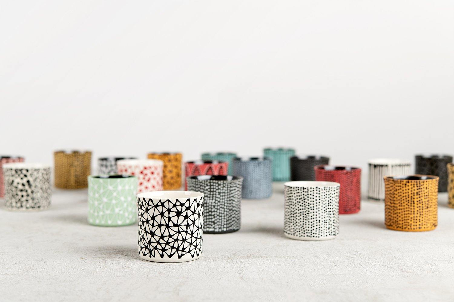 Shira Espresso cup | Sky blue with red dots
