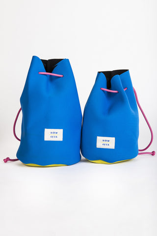 AIH x Witu NOW + 4EVA Blue Neoprene Backpack