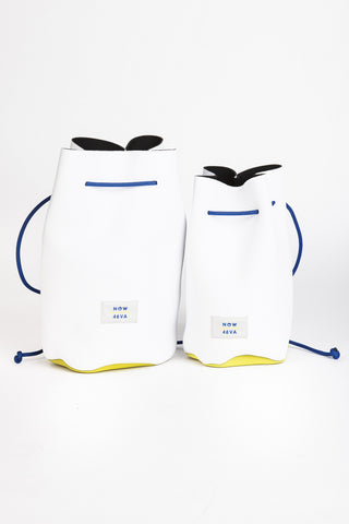 AIH x Witu NOW + 4EVA White Neoprene Backpack