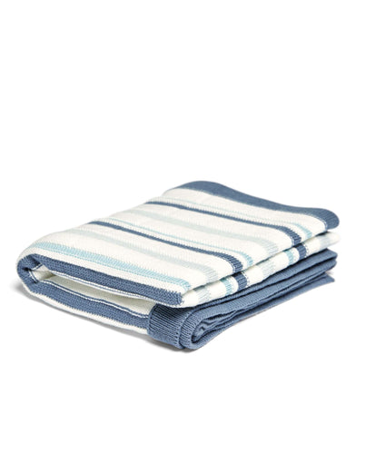 Mamas & Papas Blankets Knitted Blanket - Blue Stripe