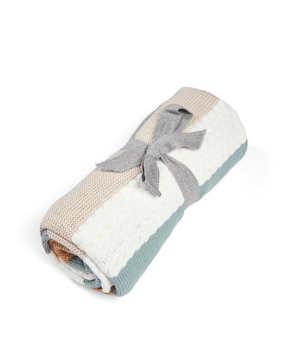 Mamas & Papas Blankets Welcome To The World Knitted Blanket - Blue Stripe