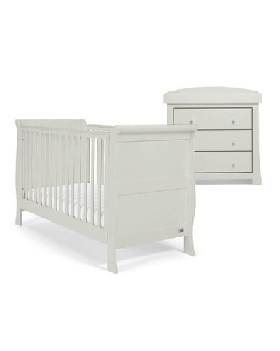 Mamas & Papas Furniture Sets Mia Sleigh 2 Piece Furniture Set with Cotbed & Dresser - Cool Grey