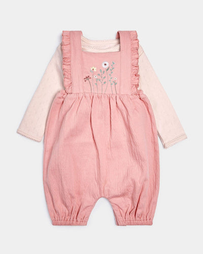 Mamas & Papas Outfits & Sets Crinkle Jersey Dungarees & Bodysuit - 2 Piece Set