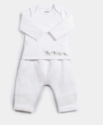 Mamas & Papas Outfits & Sets Textured Jersey Bottoms & Bodysuit - 2 Piece Set