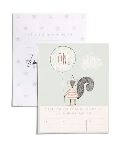 Mamas & Papas Party Shop 1st Birthday - Invitation Pack (Pack of 6)
