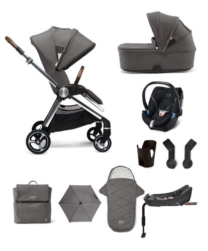 Mamas & Papas Strada Complete Kit With Aton 5 Car Seat - Grey Mist