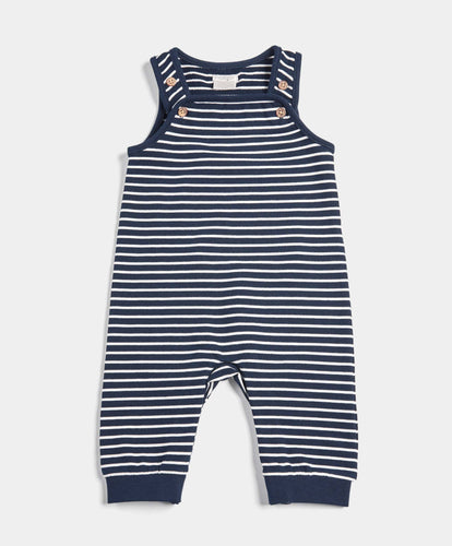 Mamas & Papas Trousers & Leggings Stripe Super-Soft Dungarees
