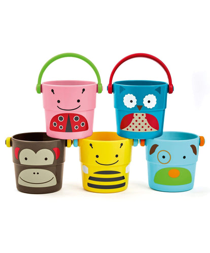 Skip Hop Bath Toys Activity Toy - Skip Hop Stack & Pour Bath Buckets
