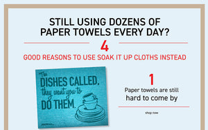 4 good reasons NOT to use paper towels today.