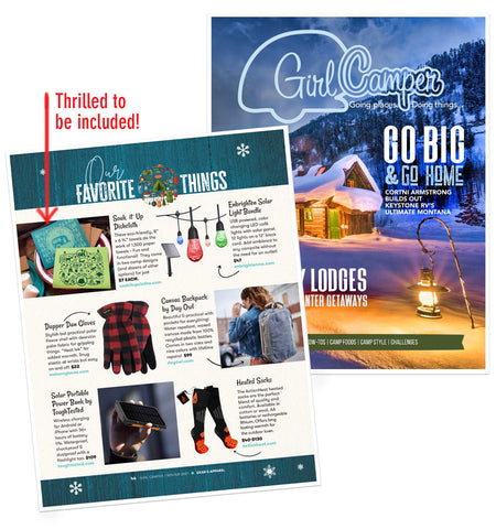 Soak iT Up Cloths a favorite thing in Girl Camper Magazine!