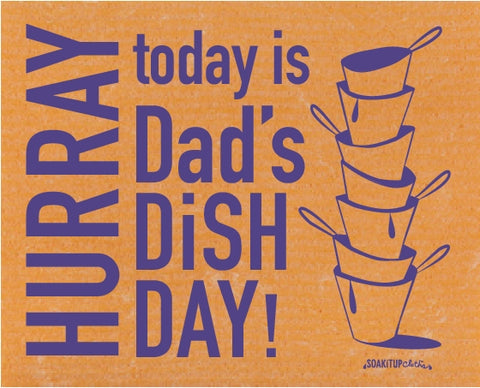 HURRAY today is Dad's Dish Day! ( ON BACKORDER SHIPPED IN 4-6 WEEKS )