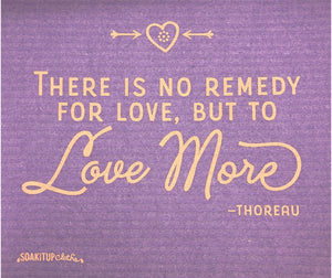 There is no remedy for love, but to LOVE MORE —Thoreau