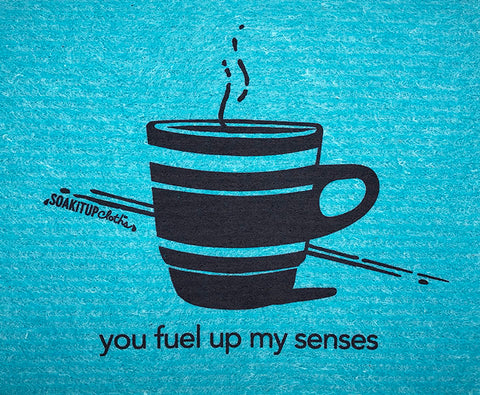 you fuel up my senses—coffee in teal