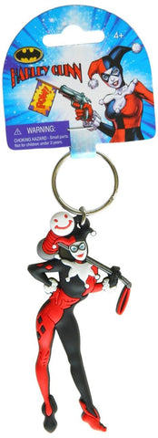 HARLEY QUINN FIGURE SOFT TOUCH PVC BAG CLIP
