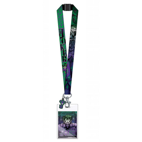 THE JOKER LANYARD WITH PVC SOFT DANGLE