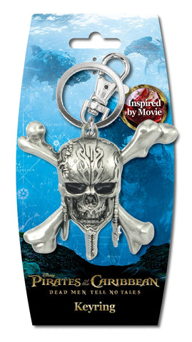 PIRATES OF THE CARRIBEAN - SKULL PEWTER KEY RING