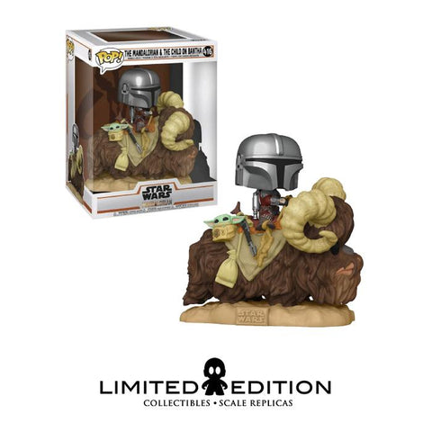 THE MANDALORIAN AND THE CHILD ON BANTHA POP DELUXE