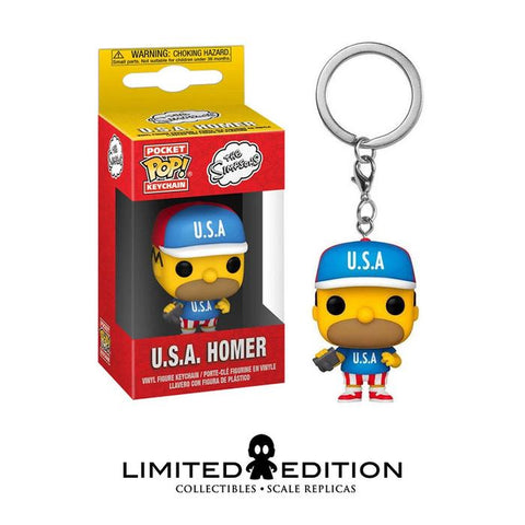 U.S.A HOMER POCKET POP KEYCHAIN