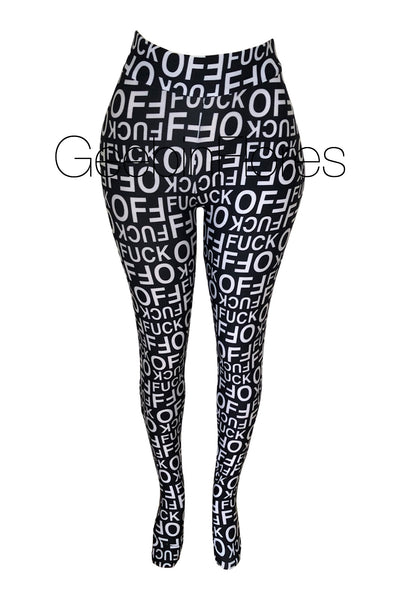 F*ck Off Tights (Black/White)