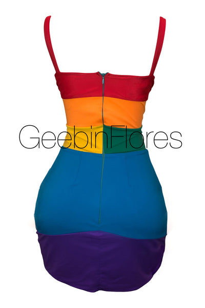Rainbow Dress (MADE TO ORDER)