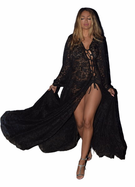 The Kelia Black Lace Dress