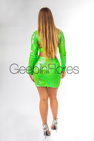 Neon Green Carmen Set