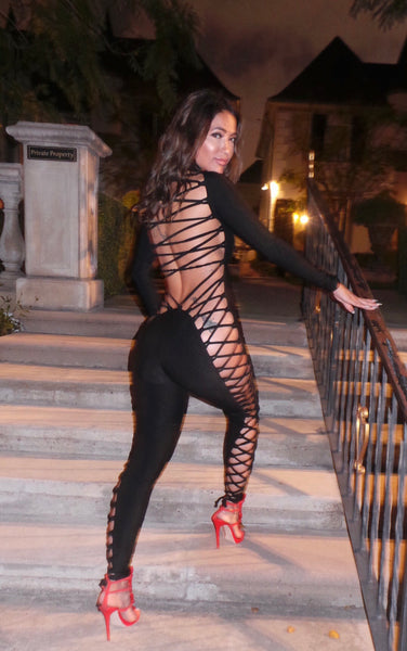 Kiara Lace Up Catsuit