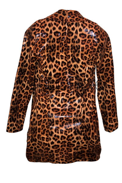 Leopard Vegan Leather Blazer (MADE TO ORDER)