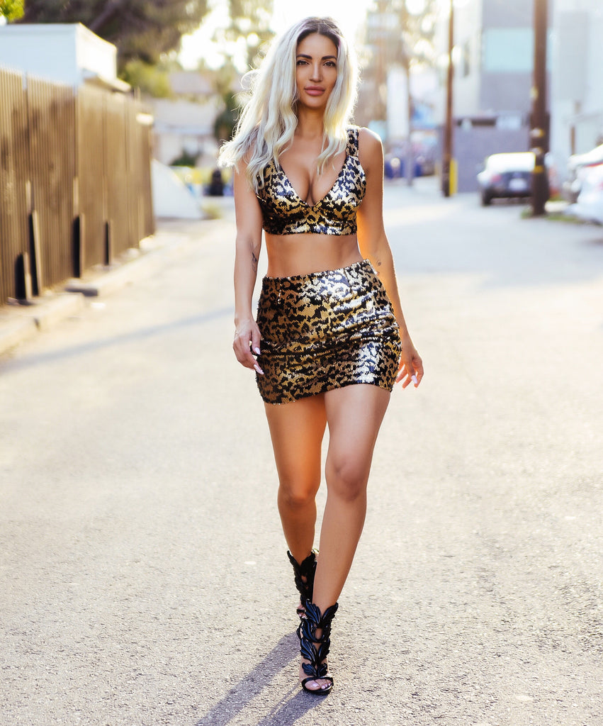 Leopard Sequin Glory Set