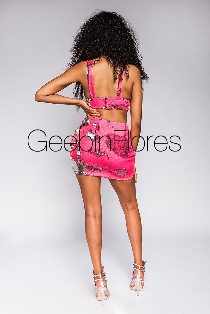 Neon Pink Glory Sequin Set