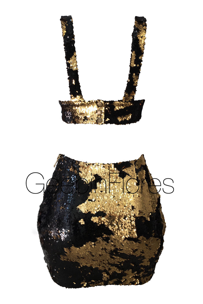 Gold/Black Glory Sequin Set