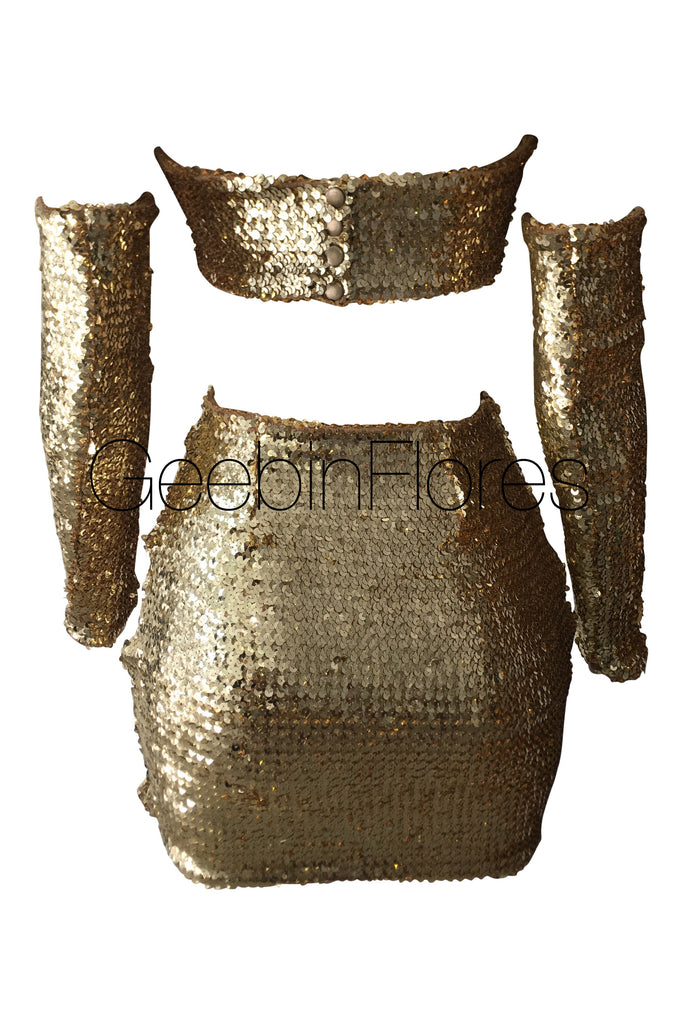Gold Sequin Zoe Set
