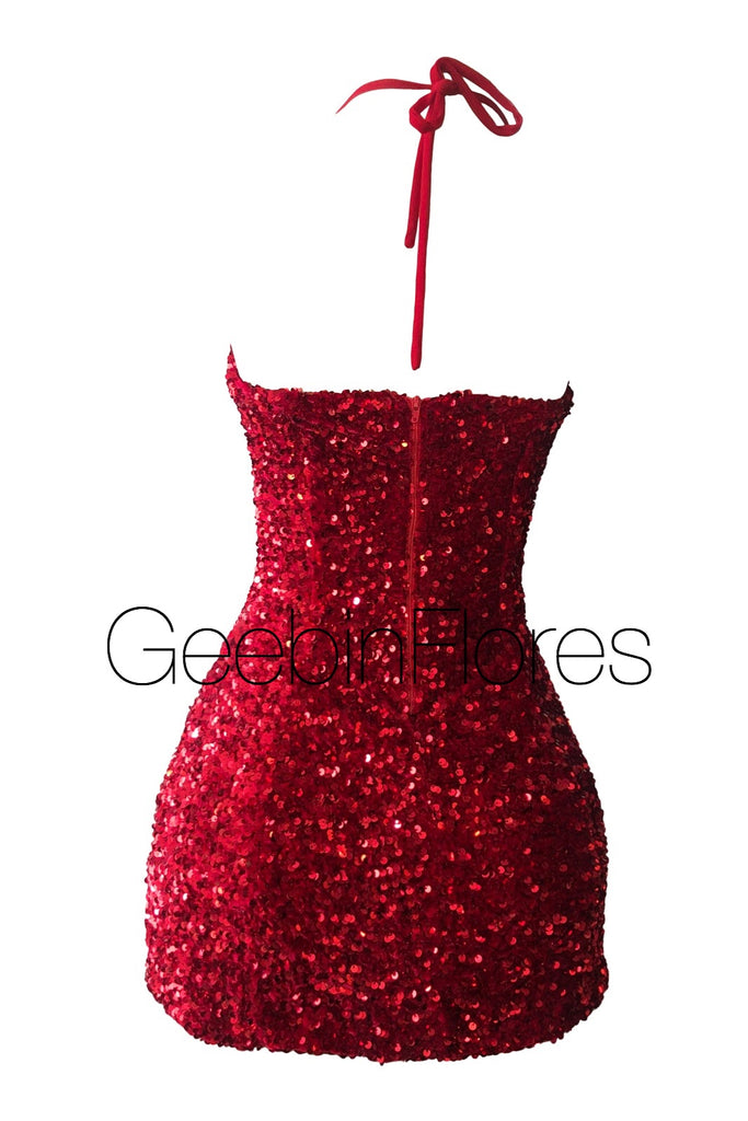 Serina Sequin Mini Dress (MADE TO ORDER)