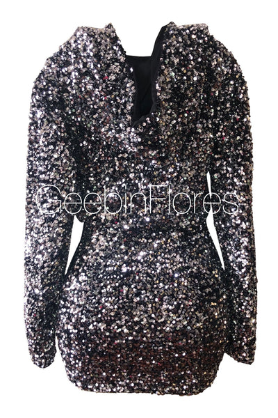Serina Sequin Hoodie Set (MADE TO ORDER)