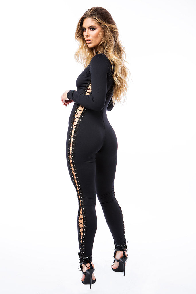 The Evelyn Eyelet Catsuit