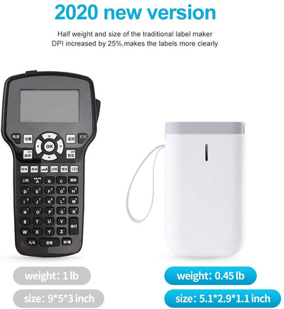 Label Maker Machine - 2020 Portable Bluetooth Label Printer Tape Included Multiple Templates Available