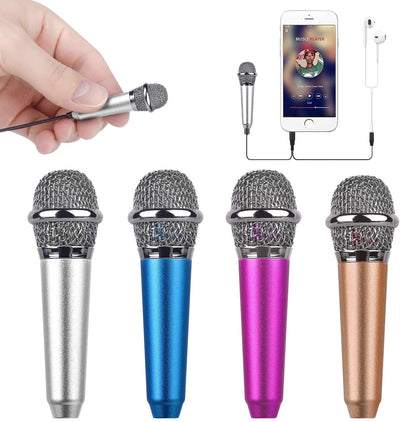 Mini Microphone - Mini Portable Vocal/Instrument Microphone for Mobile Phone Laptop Apple iPhone Sumsung Android with Holder Clip